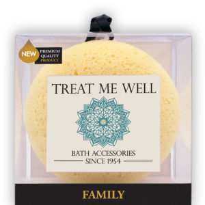 Treat Me Well Soft Family Square Sponge — Bath Accessories Since 1954